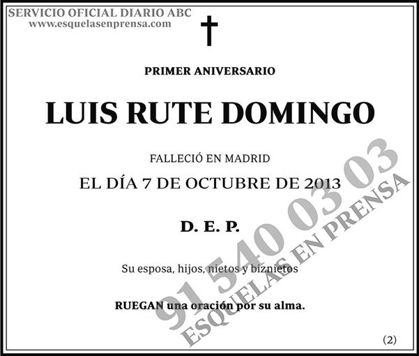 Luis Rute Domingo